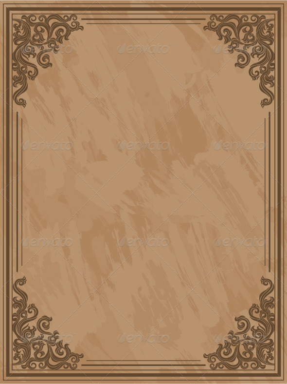 Grunge frame with a floral elements - Patterns Decorative