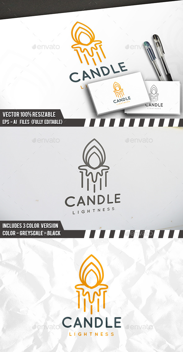 Candle Logo - Objects Logo Templates