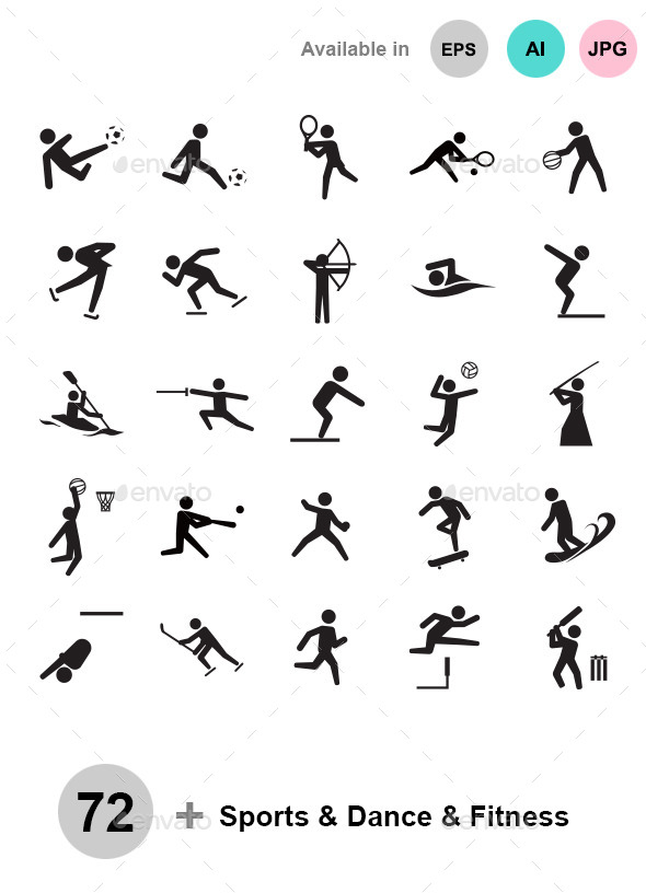 Sports & Dance & Fitness - People Characters