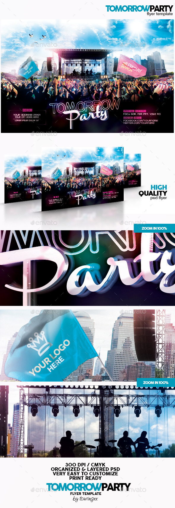 Tomorrow Party Flyer Template