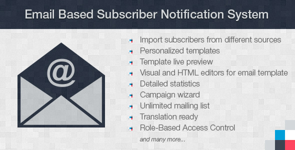 Email Based Subscriber Notification System - CodeCanyon Item for Sale