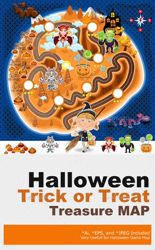 Halloween Game Assets Map - Halloween Seasons/Holidays