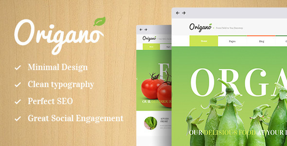 Origano - Organic Food & Eco Farm Theme   - Food Retail