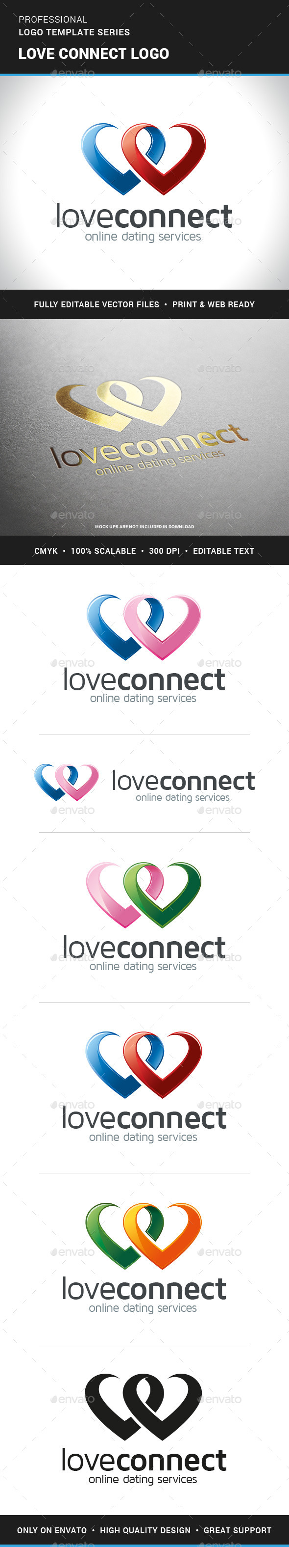 Love Connect Logo Template