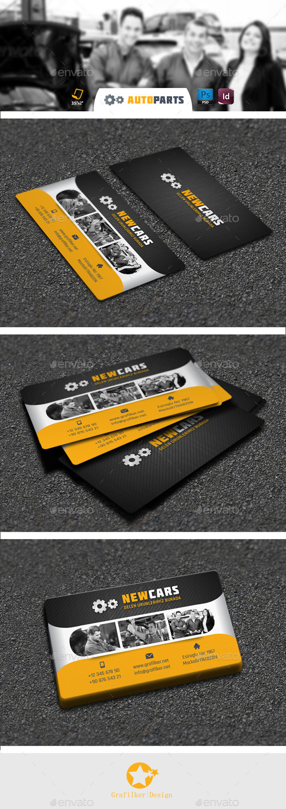 Automobile Service Business Card Templates - Corporate Business Cards