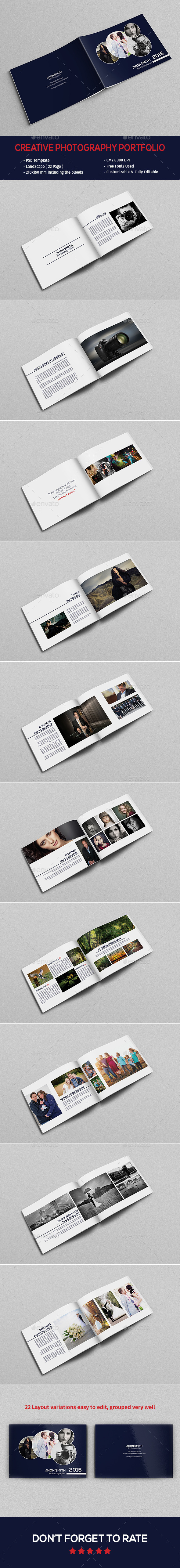 Creative Photography Portfolio Template  - Catalogs Brochures