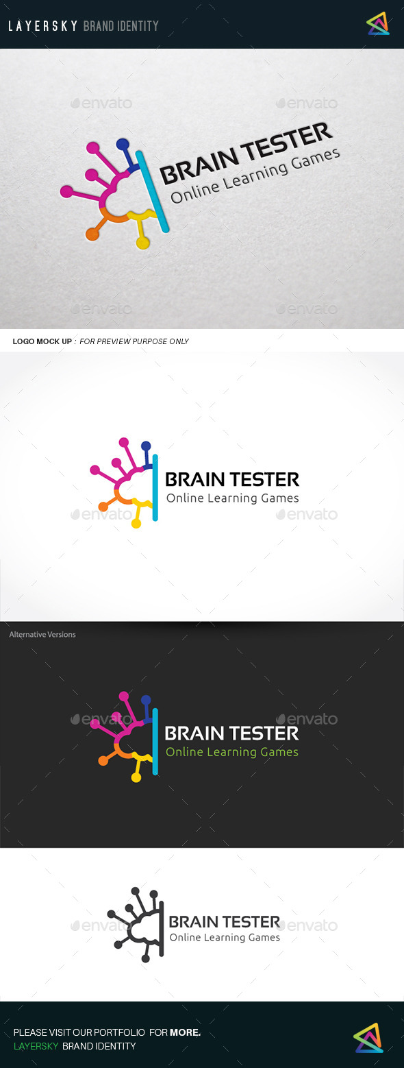 Brain Tester - Humans Logo Templates