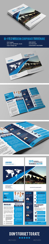 Bi-fold Modern Corporate Brochure - Corporate Brochures