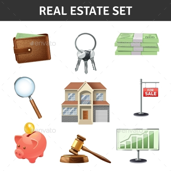 Real Estate Icons Set  - Business Conceptual