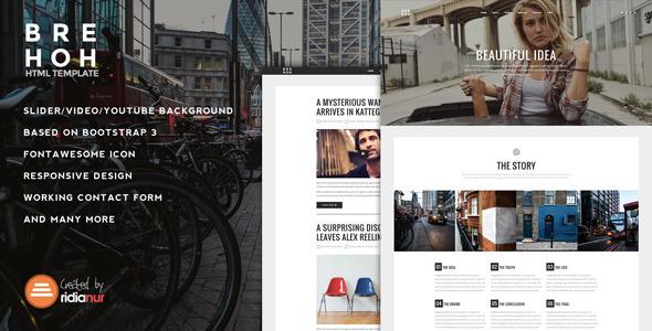 Brehoh – Responsive One Page Portfolio Theme