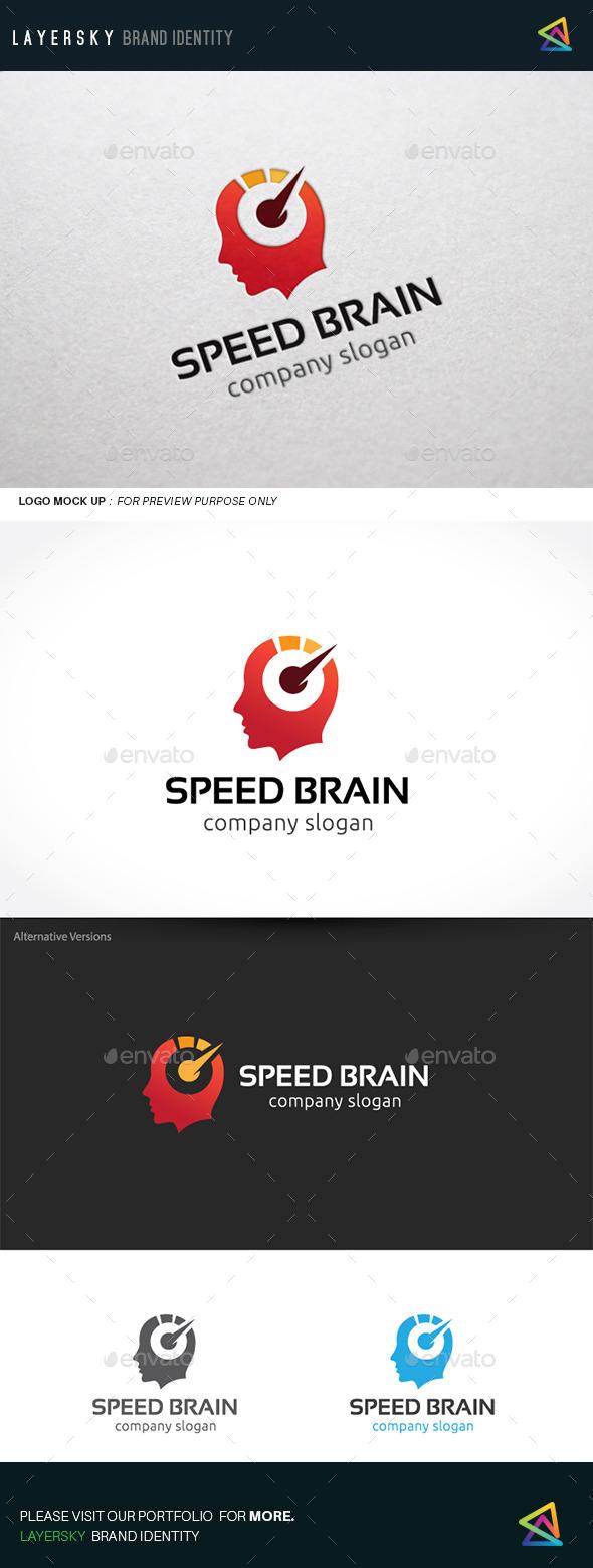Speed Brain - Humans Logo Templates