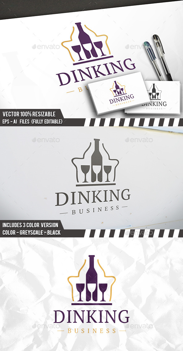 Drink King Logo - Objects Logo Templates