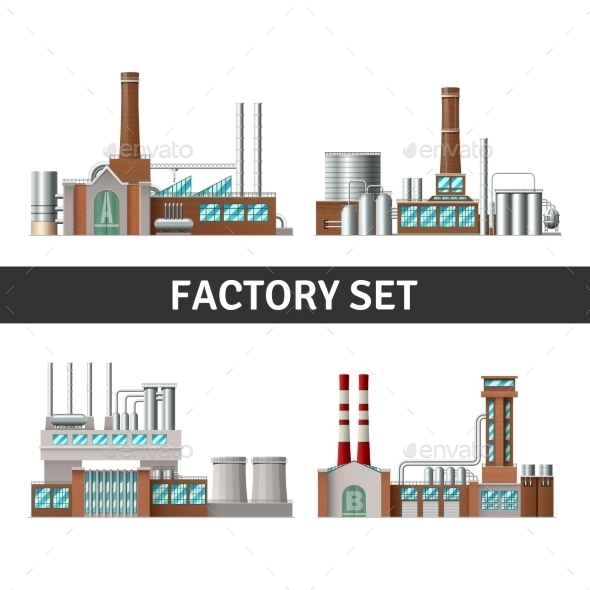 Realistic Factory Set - Industries Business
