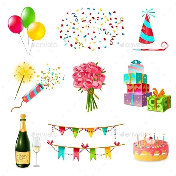Celebration Icons Set - Birthdays Seasons/Holidays