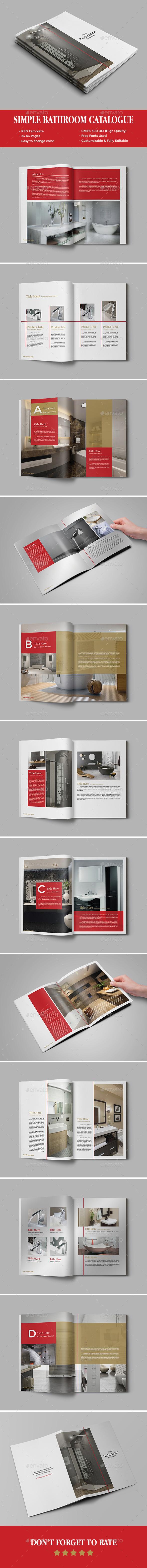 Simple Bathroom Catalogue Template - Catalogs Brochures