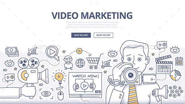 Video Marketing Doodle Concept - Concepts Business