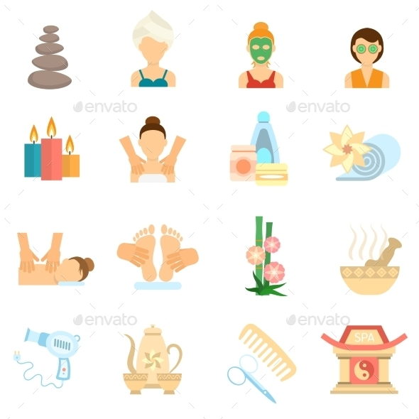 Spa Icons Flat - Miscellaneous Icons