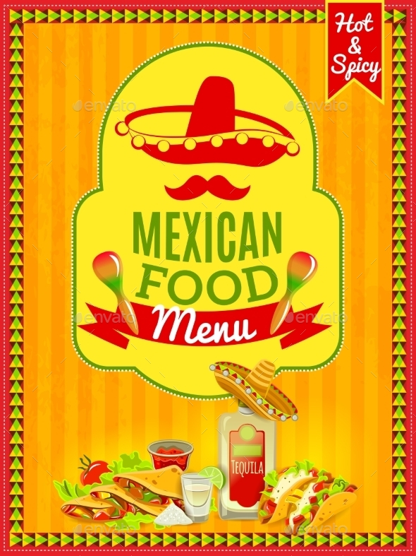 Mexican Food Menu Poster - Backgrounds Business