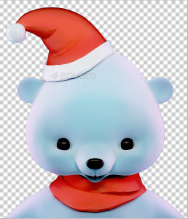 Polar Christmas Bear Face
