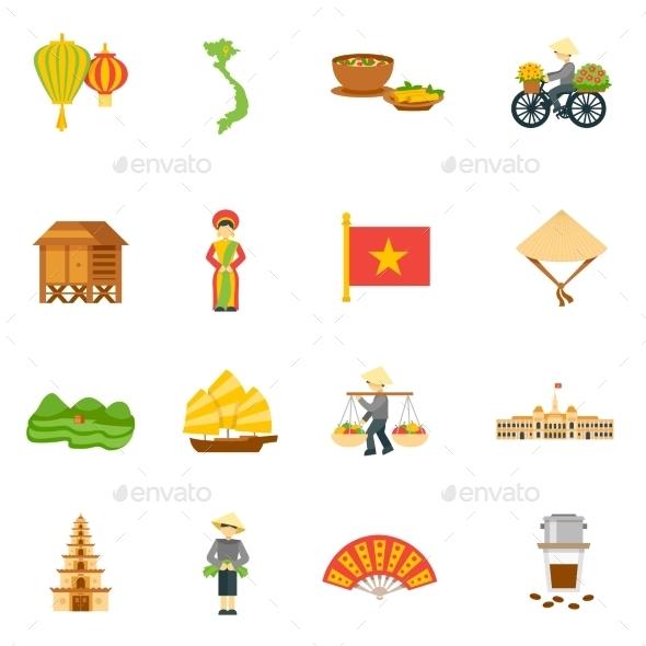 Vietnam Icons Set - Seasonal Icons