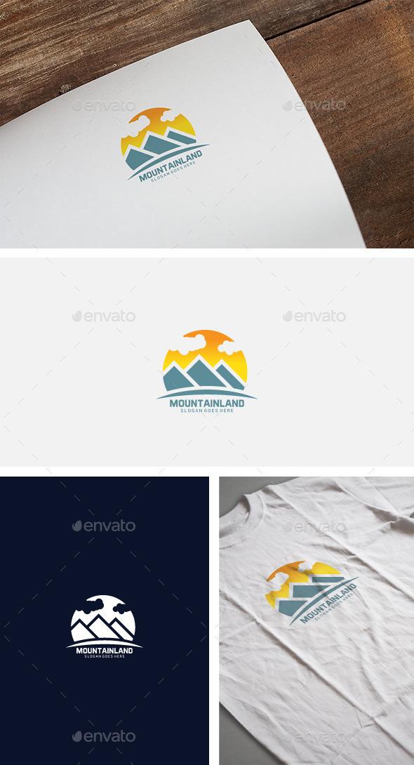 Mountain Sun Logo - Nature Logo Templates