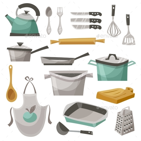 Kitchen Stuff Icons Set