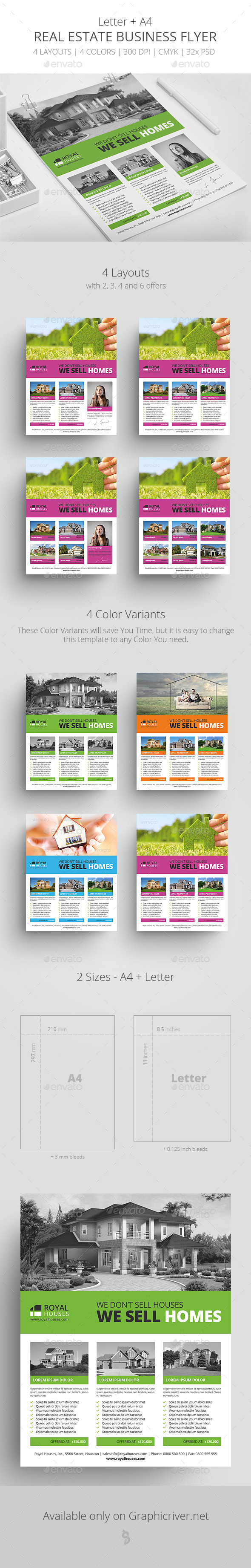 Real Estate Business Flyer Template 1