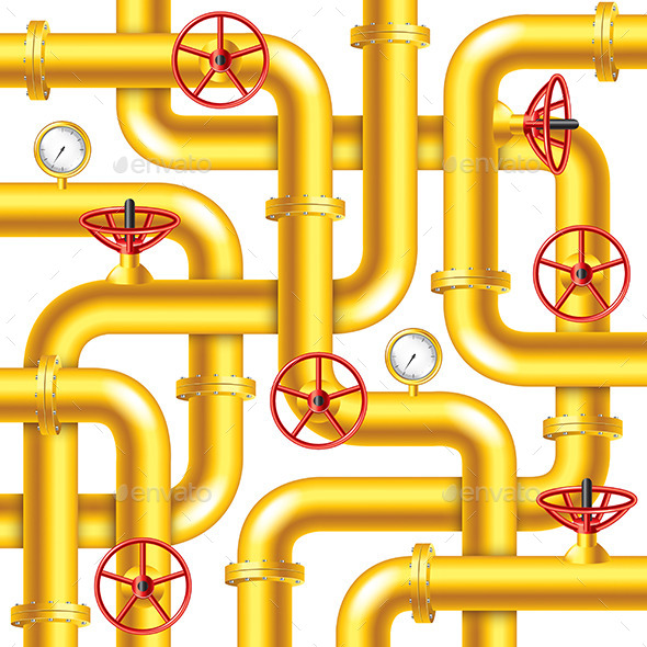 Tangled Yellow Metal Pipes Background - Industries Business