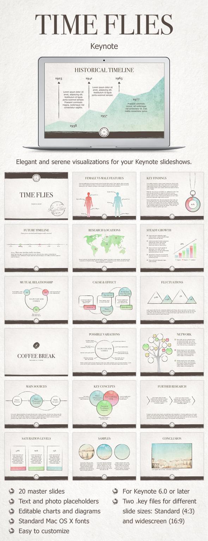 Time Flies Keynote Template - Keynote Templates Presentation Templates