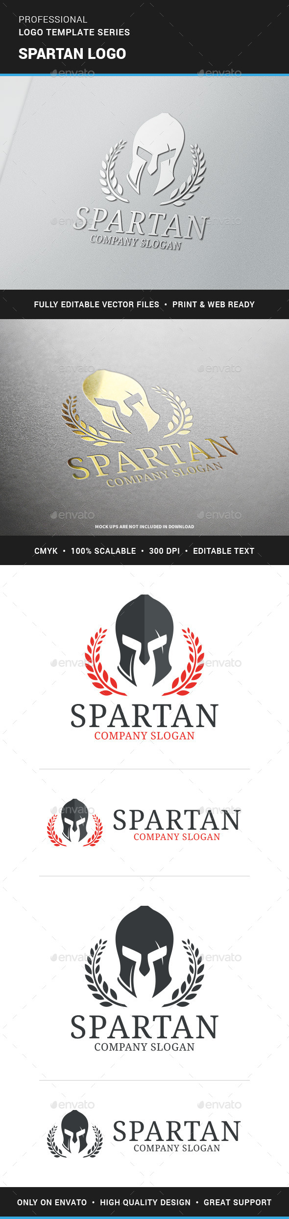 Spartan Logo Template - Objects Logo Templates