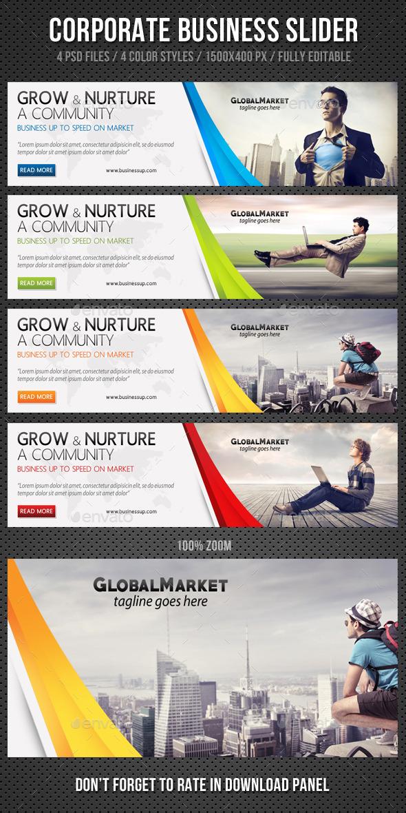 Corporate Business Slider V1 - Sliders & Features Web Elements