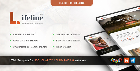 Lifeline 2 - Multipurpose Non-profit HTML Template - Charity Nonprofit