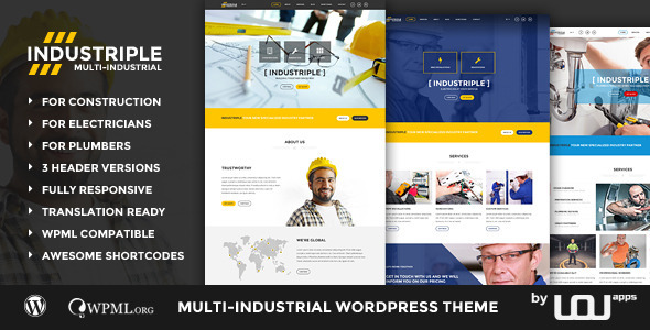 Industriple – Multi Industrial WordPress Theme