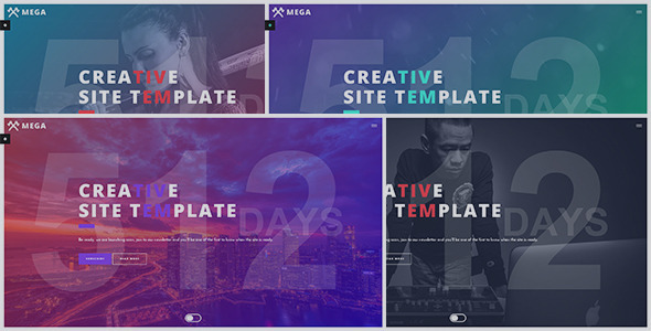 MEGA – Creative Coming Soon Template