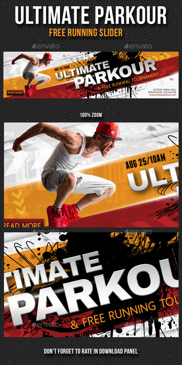 Ultimate Parkour Free Running Slider - Sliders & Features Web Elements