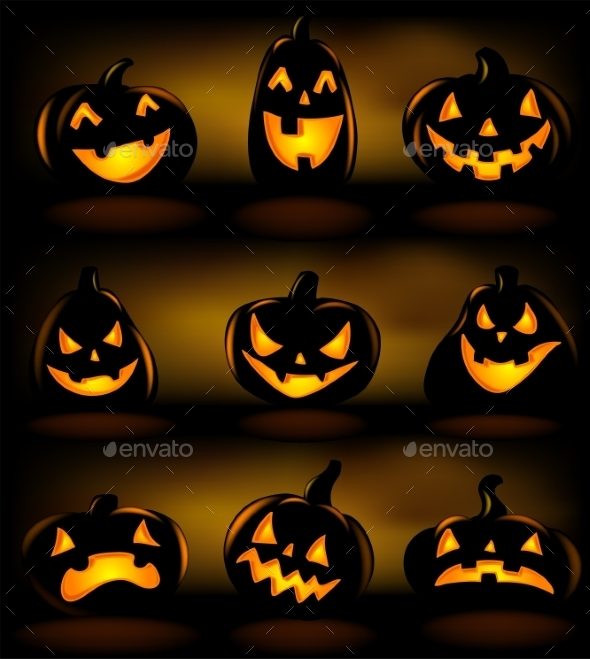 Set of Halloween Lanterns - Halloween Seasons/Holidays