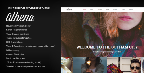 Athena – Responsive Multi-Purpose WordPress Theme