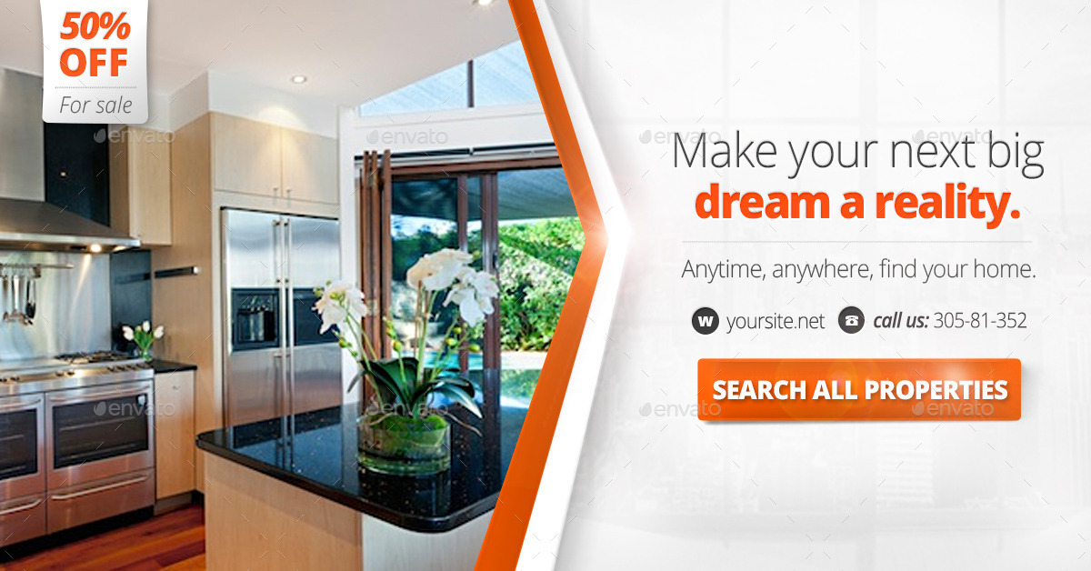 real estate web baners  u0026 facebook banner by zokamaric