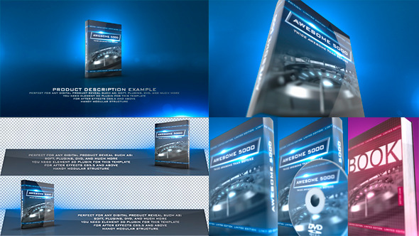 Product revealer by haerotv videohive for Dvd menu templates after effects