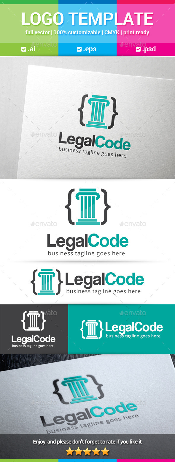 Legal Code Logo - Symbols Logo Templates