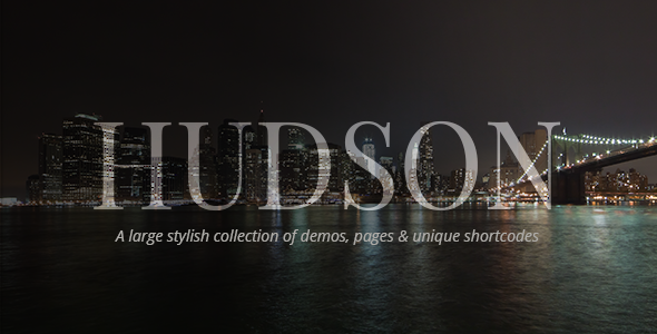 Hudson - Personal, Professional, Advanced Theme - Creative WordPress