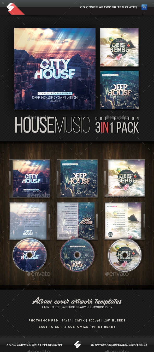 House music collection cd cover templates by sao108 for House music collection