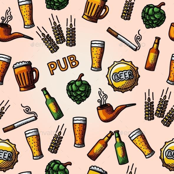 Seamless Pub Pattern - Patterns Decorative