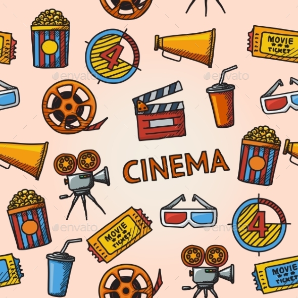 Seamless Cinema Pattern - Patterns Decorative
