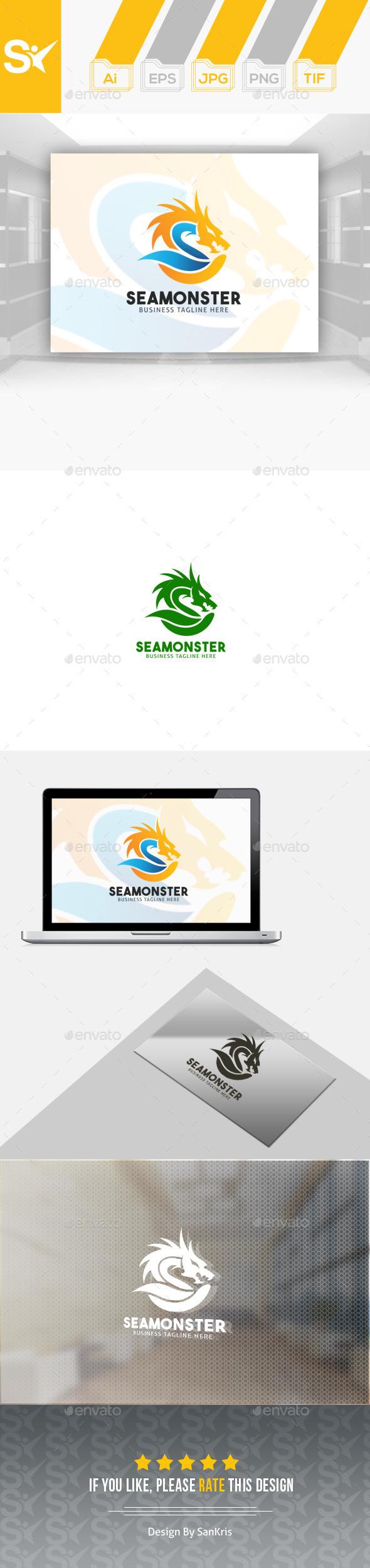Sea Monster Logo - Symbols Logo Templates