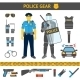 Set of Police Icons - GraphicRiver Item for Sale