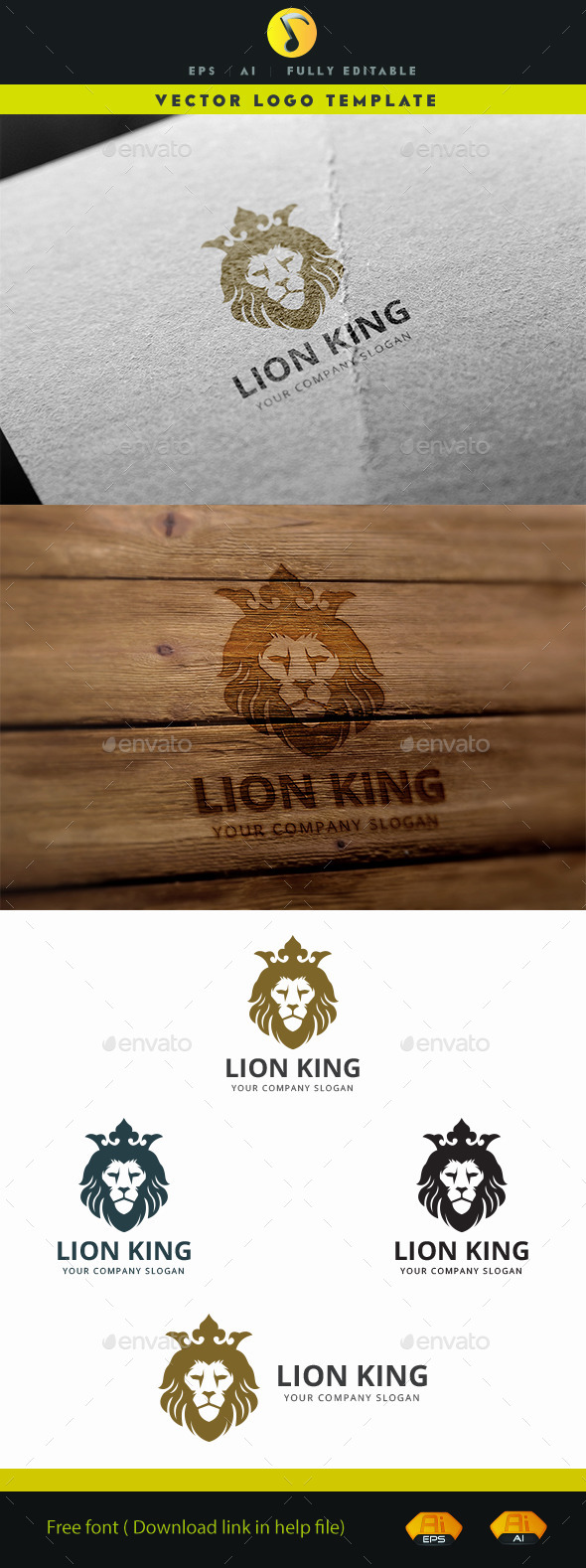Lion King - Animals Logo Templates
