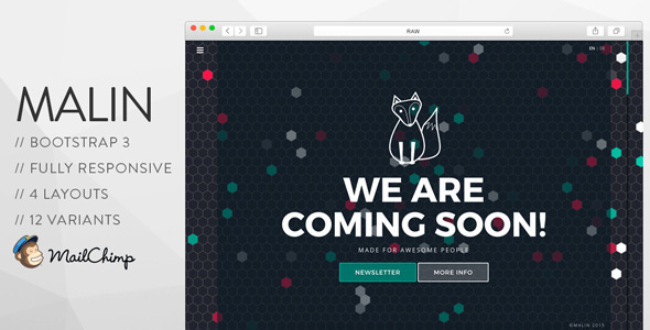 MALIN – Perfect Coming Soon Template