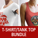 Female T-Shirt and Tank Top Bundle v.2 - GraphicRiver Item for Sale
