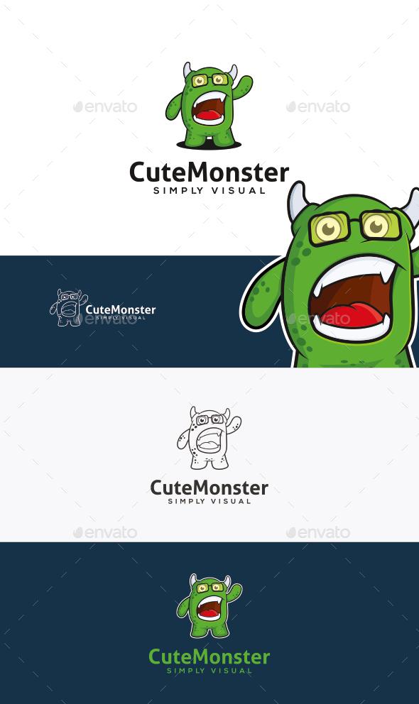 Monster Logo Template - Animals Logo Templates